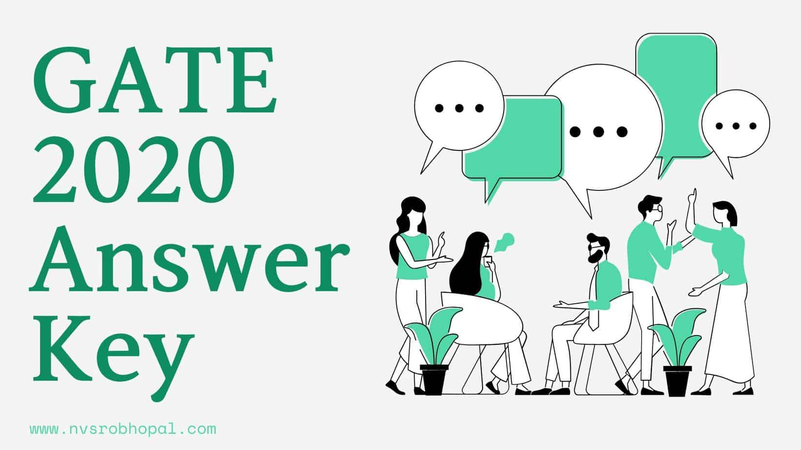 Photo of GATE 2020 Answer Key Subject Wise, Date Wise