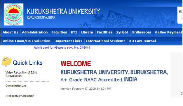 KUK University Result