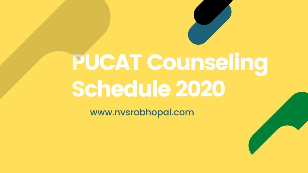 PUCAT Counseling Schedule
