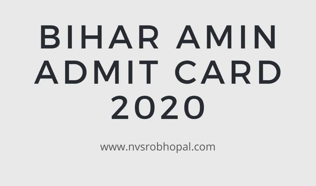 Bihar-Amin-Admit-Card-2020