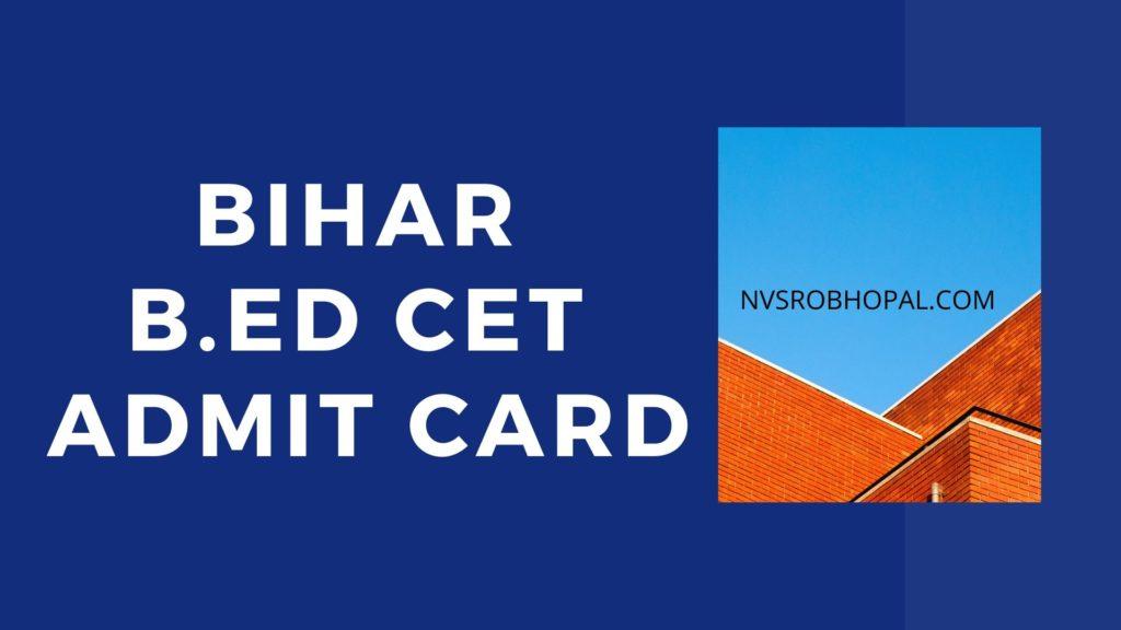 Bihar-B.Ed-Admit-Card-2020