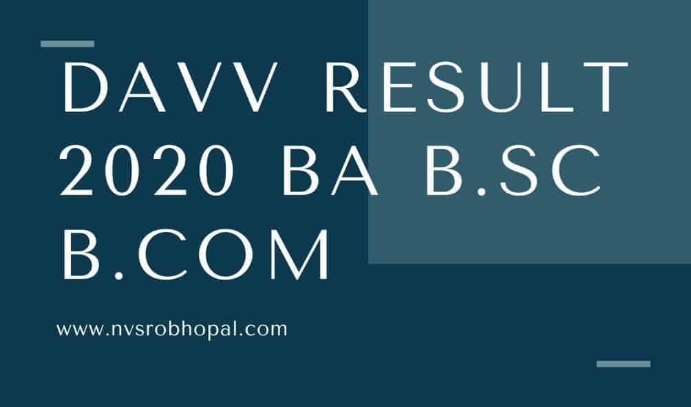 DAVV-Result-2020
