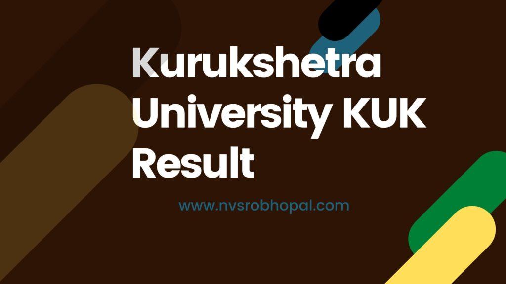 Kurukshetra University KUK Result
