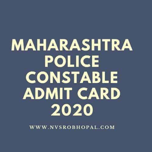 Maharashtra-Police-Constable-admit-card-2020