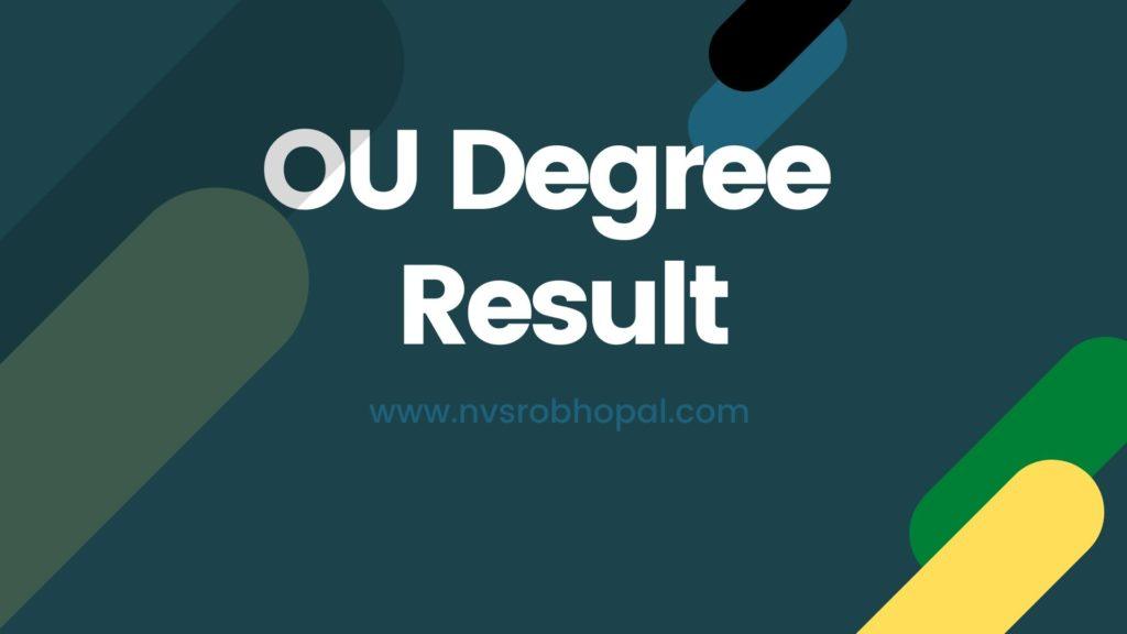 OU Degree Result