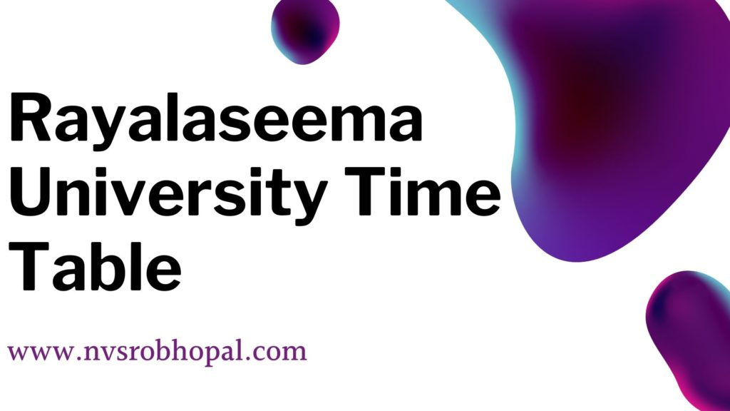 Rayalaseema_University_Time_Table