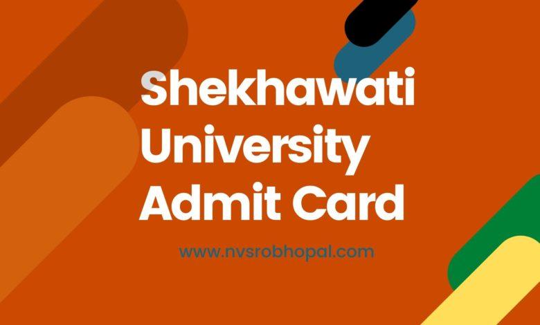 Photo of Shekhawati University Admit Card 2020 – B.Com, B.A, B.Sc, M.A Download Link
