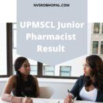 UPMSCL Junior Pharmacist Result 2020