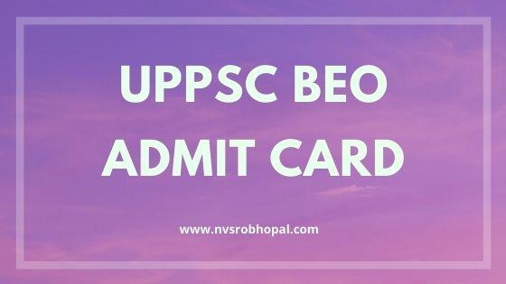 UPPSC-BEO-Admit-Card