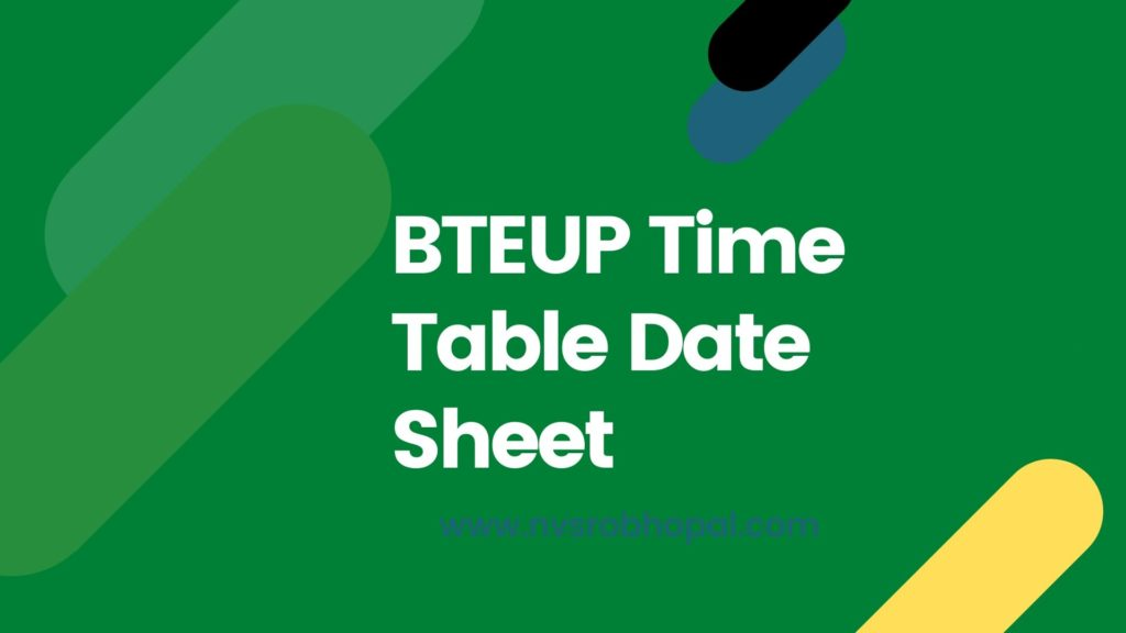 BTEUP Time Table