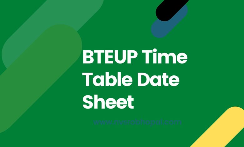 Photo of BTEUP Time Table 2020 2nd 4th 6th Sem Exam- UPBTE Diploma/Polytechnic Date Sheet