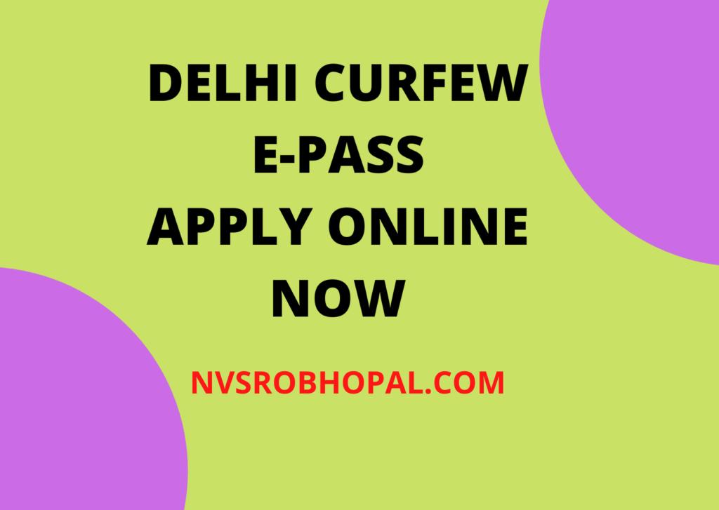 DELHI-CURFEW-E-PASS