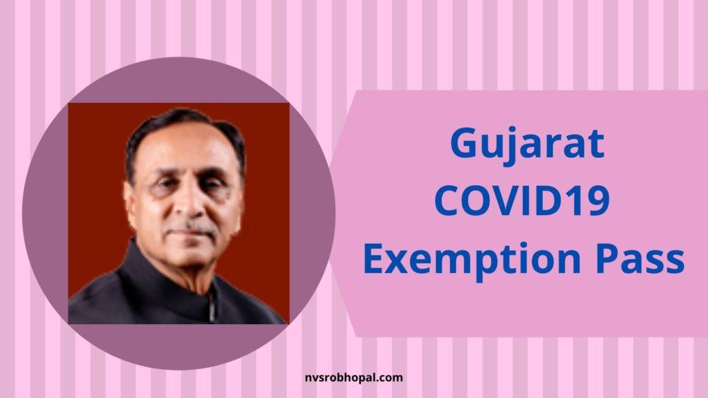 Gujarat COVID-19 Exemption Pass