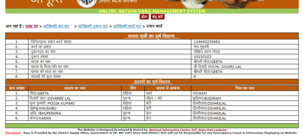 up-new-ration-list