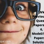 JNVST Previous Year Question Paper Class 6 9 Model Sample Paper With Solution Pdf