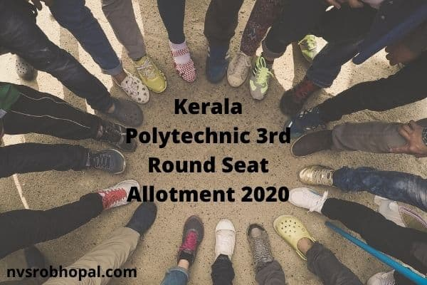 Kerala Polytechnic 3rd Round Seat Allotment 2020 Rank List Login