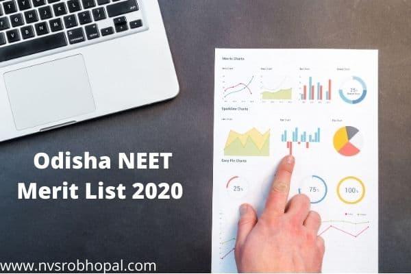 Odisha NEET Merit List 2020 (shortly) State Quota Rank List