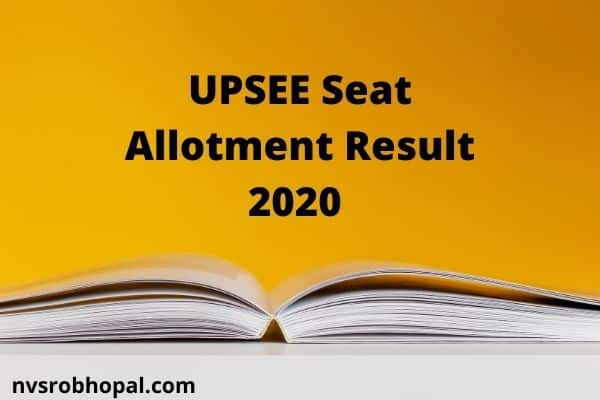 UPSEE 3rd Round Seat Allotment Result 2020 UPTU/AKTU Counselling