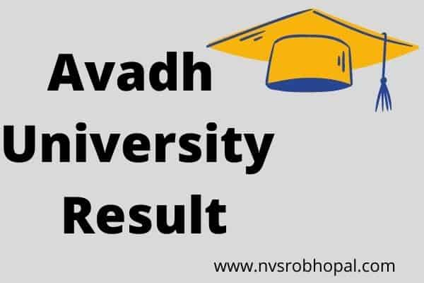 Avadh University Result