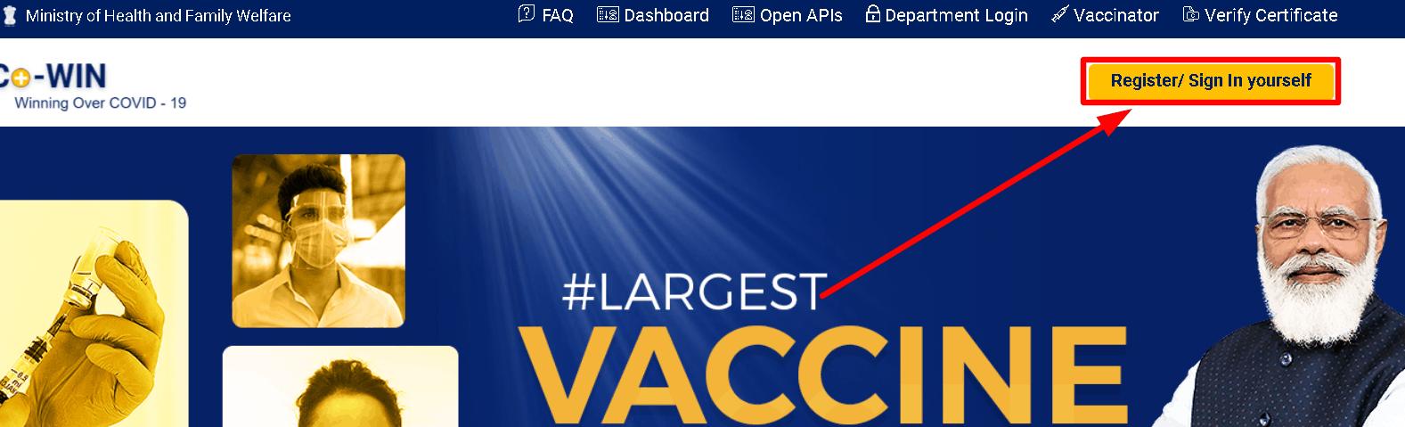 Covid vaccination online registration