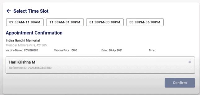 Covid vaccine cowin registration online time slot