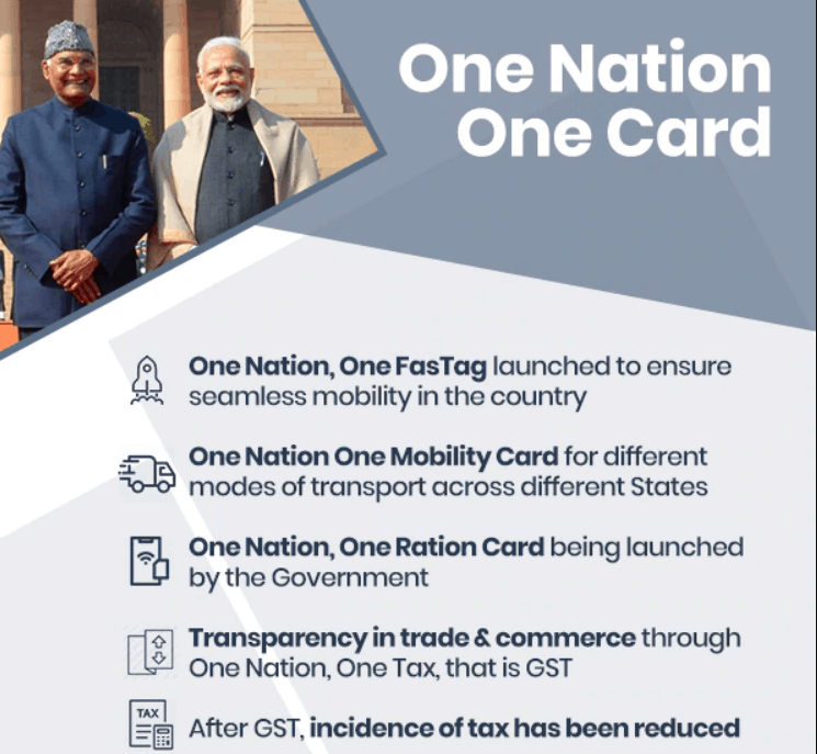 One nation One Ration card features