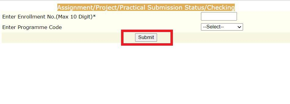 assignment-submission-IGNOU Assignment Status