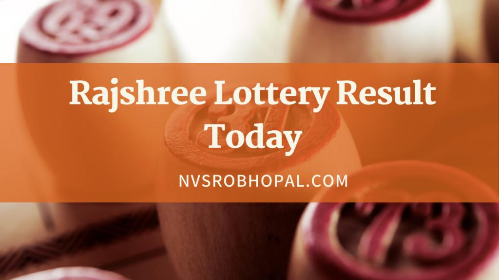 Rajshree Lottery Result Today