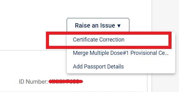 certificate-correction
