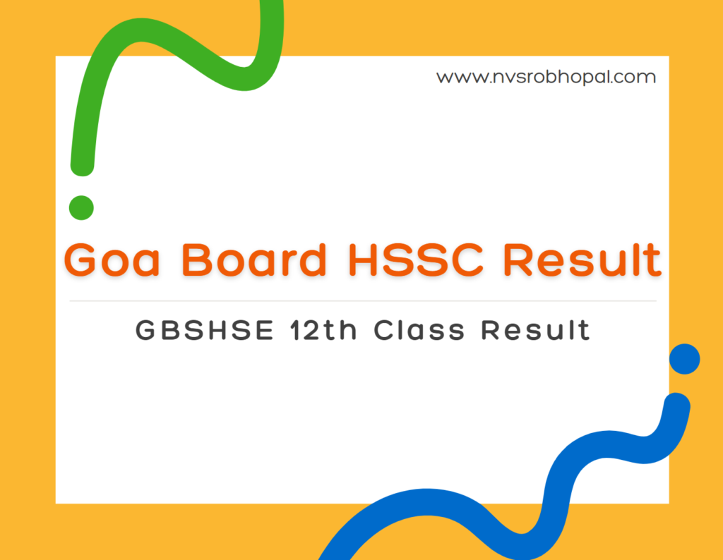 Goa Board HSSC Result 2021 Date GBSHSE 12th Class Result 2021