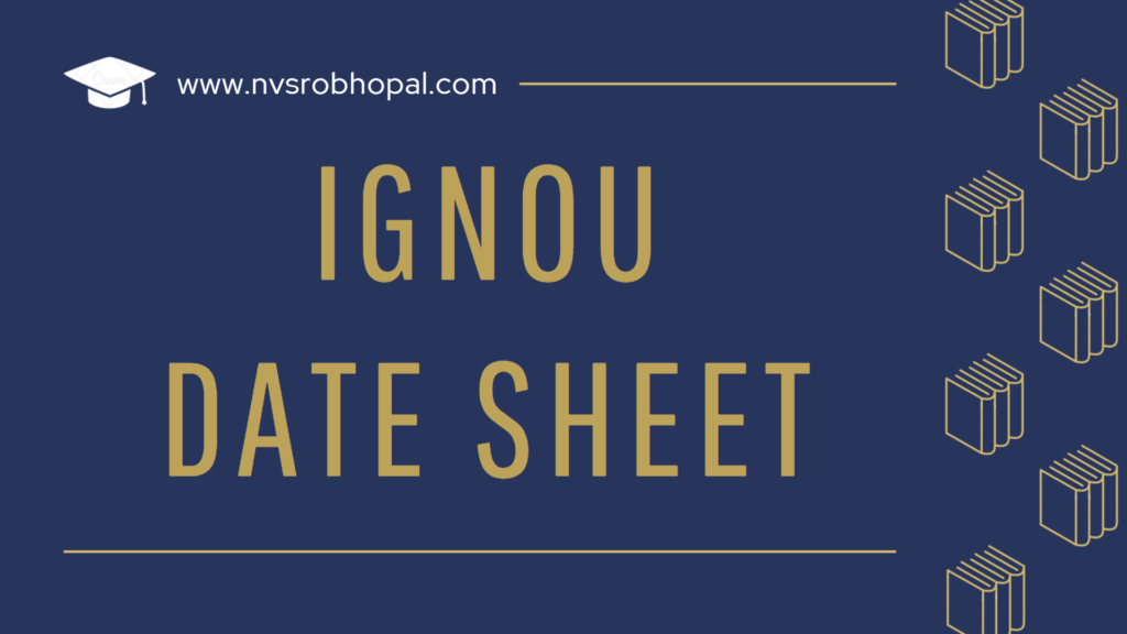 IGNOU Date Sheet 2021 TEE June Revised Exam Time Table