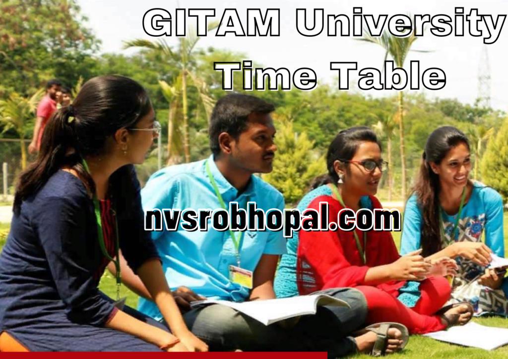 GITAM University Time Table 2021