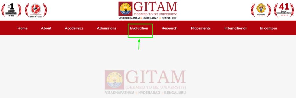 Gitam University website