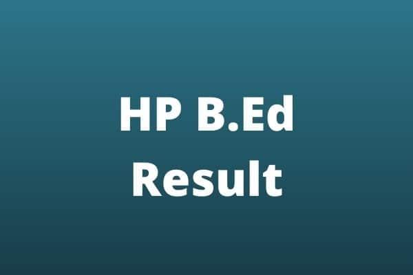 HP B.Ed Result