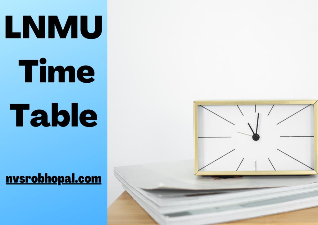 LNMU Time Table 2021