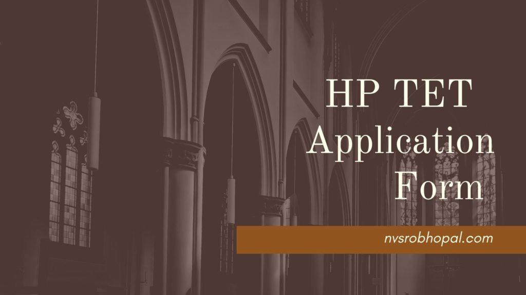 HP TET November Application Form