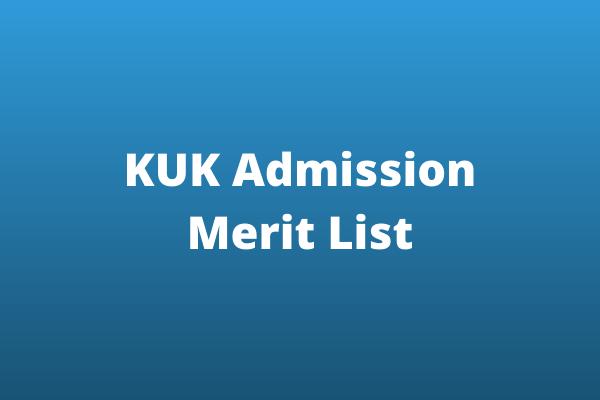 Kurukshetra University Merit List