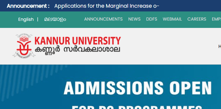 Kannur University official website