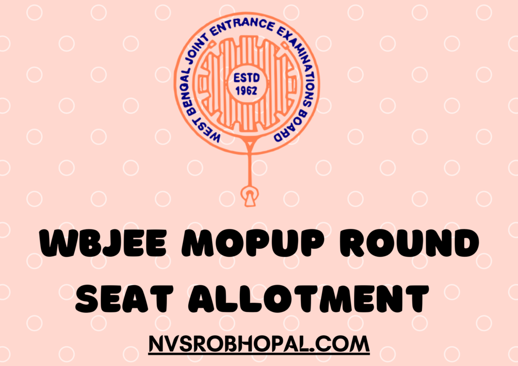 WBJEE Mopup Round Seat Allotment 2021